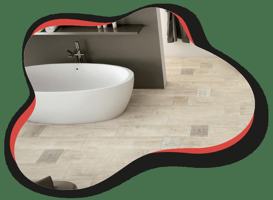 Carrelage salle de bain a vaison la romaine